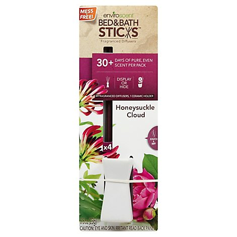 Enviroscent Fragrance Sticks Honeysuckle Cloud - 4 Count