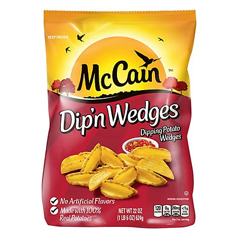 McCain Dipn Wedges Dipping Potato Wedges - 22 Oz