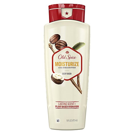 Old Spice Body Wash Moisturize With Shea Butter - 16 Fl. Oz.