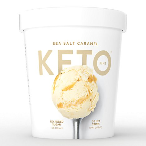 Keto Pint Ice Cream Sea Salt Caramel 1 Pint - 473 Ml