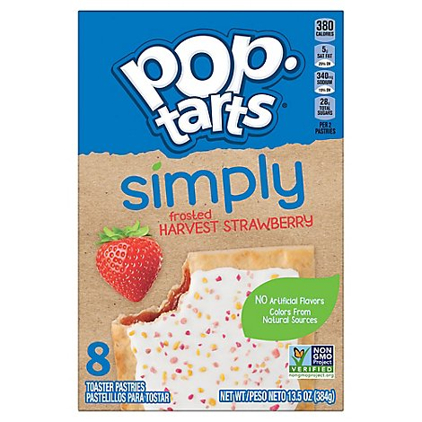 Simply Pop-Tarts Toaster Pastries Frosted Harvest Strawberry - 13.5 Oz