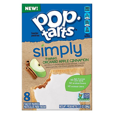 Simply Pop-Tarts Toaster Pastries Frosted Orchard Apple Cinnamon - 13.5 Oz
