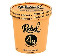 Rebel Ice Ice Cream Butter Pecan - 1 Pint