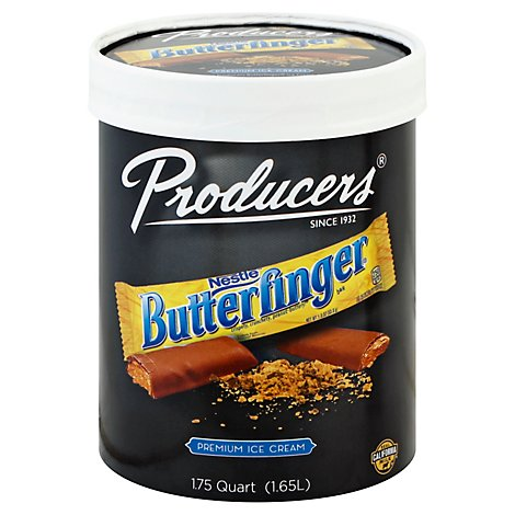 Producers Dairy Butterfinger Ice Cream - 56 Fl. Oz.
