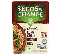 Seeds Of Change  Rice Long Grain Brown - 8.5 Oz