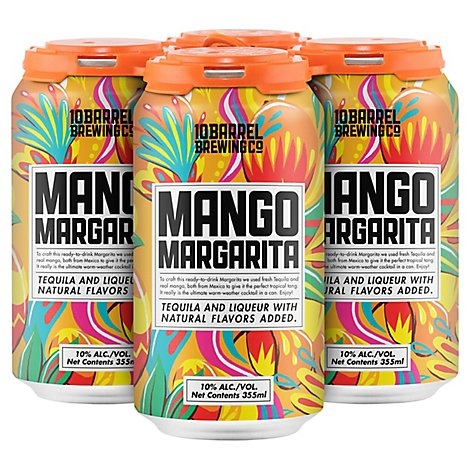 10 Barrel Rtd Mango Margarita Can - 4-12 Fl. Oz.