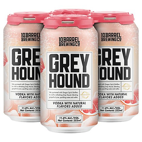 10 Barrel Rtd Grey Hound Can - 4-12 Fl. Oz.