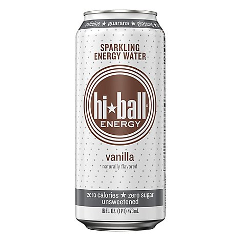 Hi Ball Vanilla Sparkling Energy Water - 16 Fl. Oz.