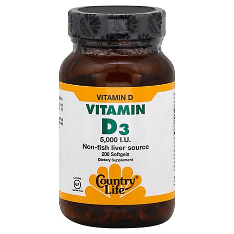 Vitamin D3 5000iu Softgels - 200 Count