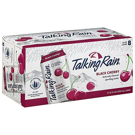 Talking Rain Sparkling Water Black Cherry 8 12oz Can - 96 Fl. Oz.