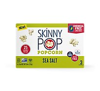 SkinnyPop Microwave Popcorn Sea Salt - 3-2.8 Oz