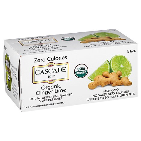 Cascade Ice Organic Ginger Lime 8pk Can - 96 Fl. Oz.