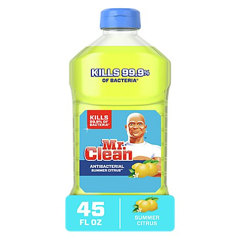 Mr. Clean Cleaner Multi Purpose Limited Disinfectant Antibacterial Summer Citrus - 45 Fl. Oz.