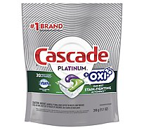 Cascade Platinum Dishwasher Detergent ActionPacs + Oxi Fresh Scent - 20 Count