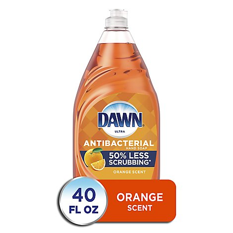 Dawn Ultra Dishwashing Liquid Antibacterial Hand Soap Orange Scent - 40 Fl. Oz.