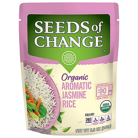 Seeds Of Change Rth Jasmine Rice - 8.5 Oz