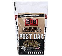 B&B Post Oak Bbq Wood Chips - Each