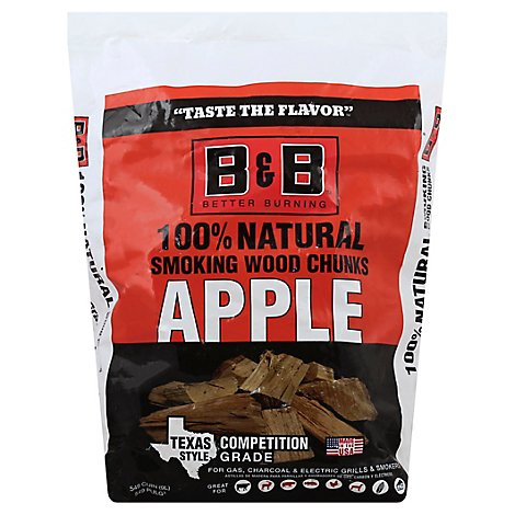 B&B Apple Bbq Wood Chunks - Each