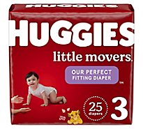 Huggies Little Movers Diapers Size 3 Jumbo Pack - 25 Count