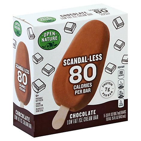 Open Nature Ice Cream Bar Scandaless Chocolate - 5-3.0 Fl. Oz.