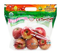Apples Pink Lady Organic Prepacked - 3 Lb