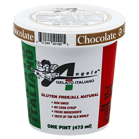 Angelo Gelato Italiano Chocolate - 16 Oz