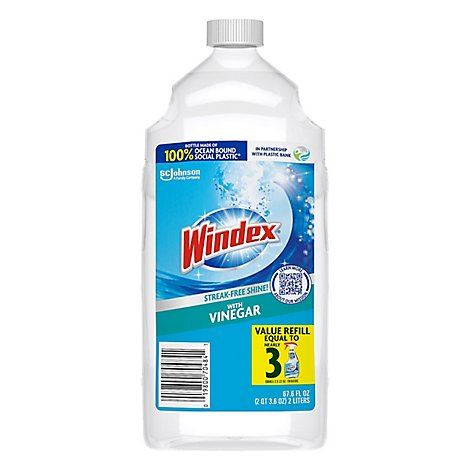 Windex Glass Cleaner Refill Vinegar 2 L