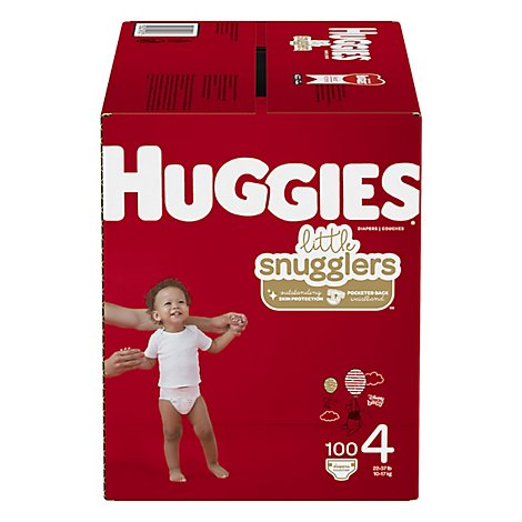 Huggies Little Snugglers Diapers Size 4 Giant - 100 Count