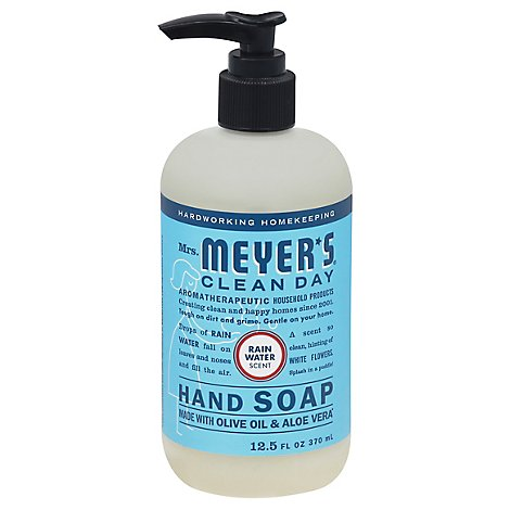 Mrs. Meyers Clean Day Liquid Hand Soap RainWater Scent 12.5 ounce bottle