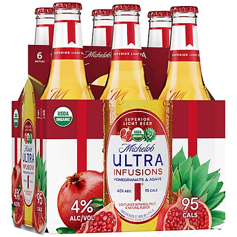 Michelob Ultra Pomegranate Infusions 6 Pack 12 Fz In Bottles - 6-12 Fl. Oz.