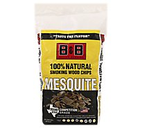 B&B Mesquite Bbq Wood Chips - Each