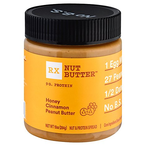 RX Nut Butter Peanut Butter Honey Cinnamon - 10 Oz
