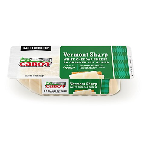 Cabot Sharp White Cheddar Cuts - 7 Oz