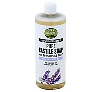 Open Nature Soap Pure Castille Multi Purpose With Lavender Oil - 32 Fl. Oz.