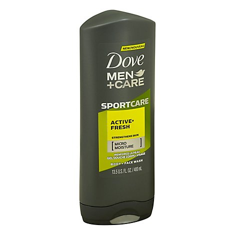 Dove Men+Care SportCare Body + Face Wash Active + Fresh - 13.5 Oz