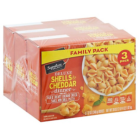 Signature Select Shells & Cheddar Deluxe Family Pk - 3-12.0 Oz