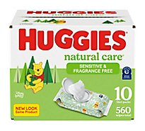 Huggies Natural Care Fragrance Free Baby Wipes - 560 Count