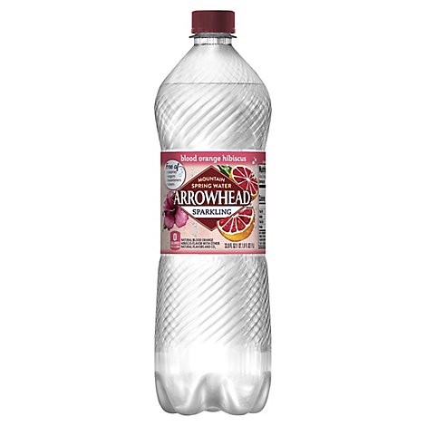 Arrowhead Mountain Spring Water Sparkling Blood Orange Hibiscus - 33.8 Fl. Oz.