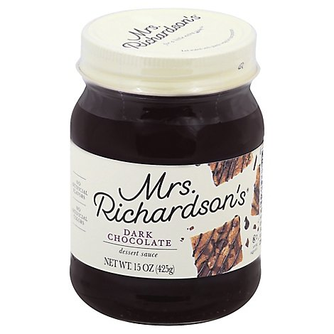 Mrs. Richardsons Sauce Dessert Dark Chocolate - 15 Oz