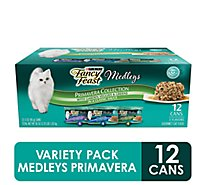 Fancy Feast Cat Food Wet Medleys White Meat Chicken Primavera - 12-3 Oz