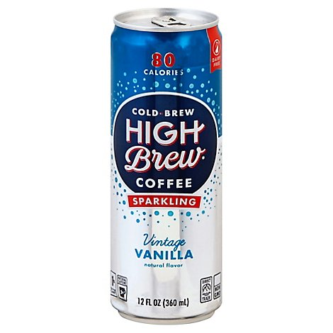 High Brew Coffee Sparkling Vintage Vanilla - 12 Oz