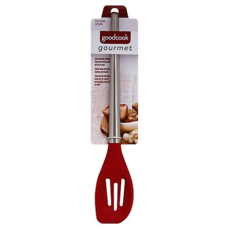 Good Cook Gourmet Spoon Slotted W Silicone Head - Each