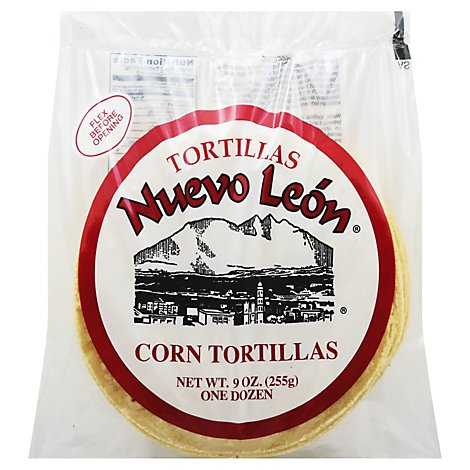 Tortillas Nuevo Leon Yellow Corn Tortilla - 9 Oz