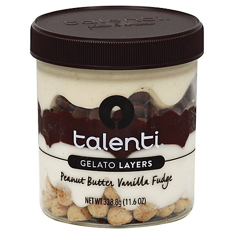 Talenti Gelato Layers Peanut Butter Vanilla Fudge - 11.6 Oz