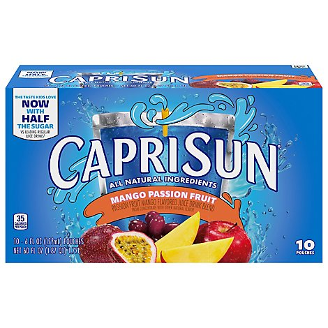 Capri Sun Adventures Ready To Drink Soft Drink Mango Passionfruit - 4 - 60 Fl. Oz.