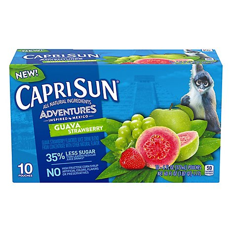 Capri Sun Adventures Ready To Drink Soft Drink Guava - 4 - 60 Fl. Oz.