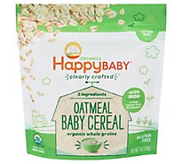 Happy Baby Clearly Crafted Oatmeal Cereal - 7 Oz