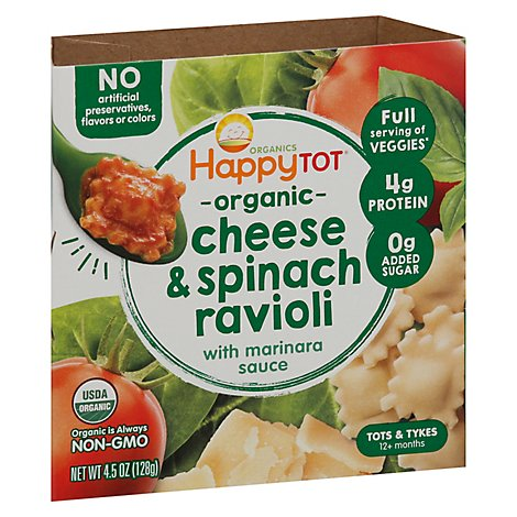 Happy Tot Lmv Bowl Spinach Ravioli - 4.5 Oz
