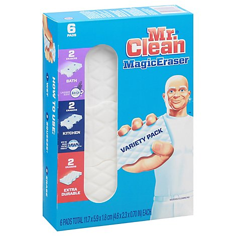 Mr. Clean Magic Eraser Cleaning Pads Original With Durafoam - 6 Count