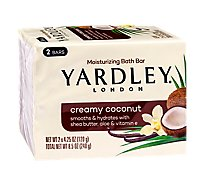 Yardley Cream Coconut Bar Soap - 2-4.25 Oz